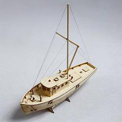 HAPYLY 1/30 Scale DIY Hobby Nakas Wooden Fishing Ship Scienc