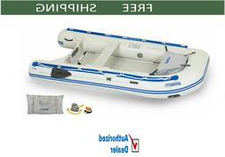 """Sea Eagle 10'6"""" Deluxe Inflatable Sport Runabout Fishing Boa"""