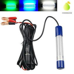 12V-24V Underwater 180LED Fishing Light Green Blue White Nig