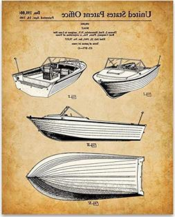 1964 Motor Boat - 11x14 Unframed Patent Print - Great Gift f