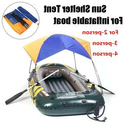 2-4 Person Boat Sun Shelter Sailboat Awning Cover Fishing Te