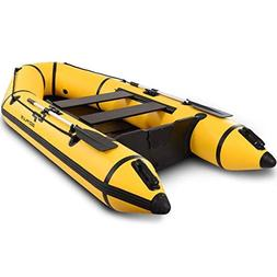 Goplus 2 or 4-Person Inflatable Dinghy Boat Fishing Tender R