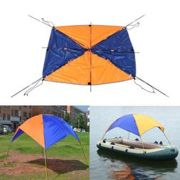 2-4Person Inflatable Fishing Boat Awning Canopy UV Sun Shade