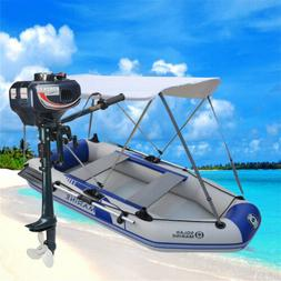 2-4 Person Inflatable Outboard Boat Engine Raft Fishing moun