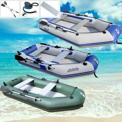 2-4 Person Inflatable Raft Fishing Dinghy Boat/sun shelter/B