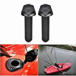 2Pcs Plastic Flush Mount Fishing Boat Rod Holder and Cap Cov