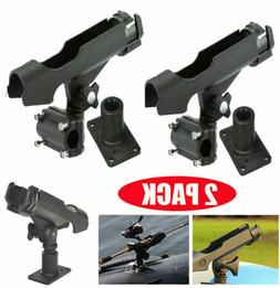 2PC For Kayak Boat Fishing Pole Rod Holder Tackle Kit Adjust