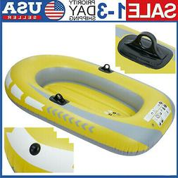 2Person PVC Inflatable Rowing Air Boat Fishing Drifting Divi