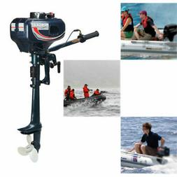3.5HP 2 Stroke Outboard Motor Shaft Inflatable Fishing Boat