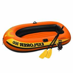 3-Person Inflatable Boat Set with French Oars and High Outpu