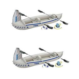 Sea Eagle 370 Deluxe 2 Person Inflatable Portable Sport Kaya