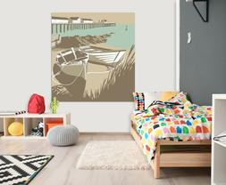 3D Fishing Boat 12RAIN47 Wall Stickers Wall Mural Decals Ste