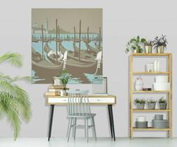 3D Fishing Boat 12RAIN64 Wall Stickers Wall Mural Decals Ste