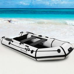 Goplus 4-Person 10FT Inflatable Dinghy Boat Fishing Tender R
