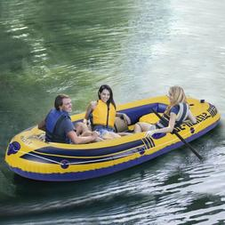 4-Person Inflatable Boat Set Dinghy Boat Fishing Tender Raft