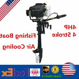 4HP 4 Stroke Outboard Motor Fishing Boat Engine Air Cooling