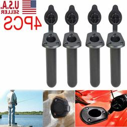 4X Plastic Flush Mount Fishing Boat Rod Holder and Cap Cover