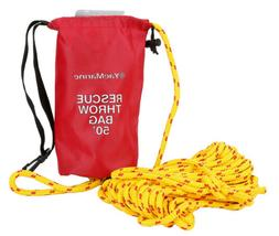 50FT Rescue Throw Bag Reflective Floating Rope for Boating K