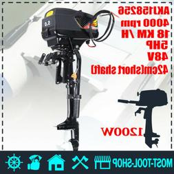 5-HP 1200W Electric Trolling Outboard Motor Fishing Boat Eng