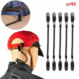 5Pcs Hat Clips Caps Retainer Coiled Cord Rope for Boating Fi