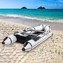 7.5FT/10FT PVC Inflatable Boat Raft Tender w/ Oar Aluminum F