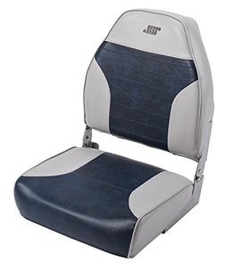 Wise 8WD588PLS-660 Mid-Back Fishing Boat Seat with Logo,