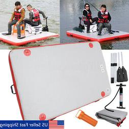 "98x62"" 4 Person Inflatable Lake Fishing Raft Boat Set with"