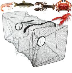 Fishing Bait Trap Fish Net Cast Dip Cage Crab Minnow Crawdad