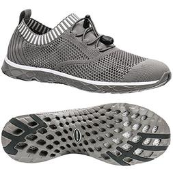 ALEADER Men's Adventure Aquatic Water Shoes Overcast Gray 10