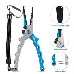 Wolfyok Aluminum Fishing Pliers, Stainless Steel Hook Remove