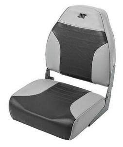 High Back Fold Down Seat Color: Grey / Charcoal
