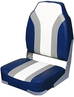 Leader Accessories High Back Folding Rainbow Boat Seat