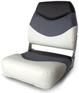 Leader Accessories Premium High back Seat White/Gray/Charcoa