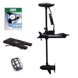 """Aquos Black Haswing 12V 55LBS 54"""" Shaft Bow Mount Electric T"""