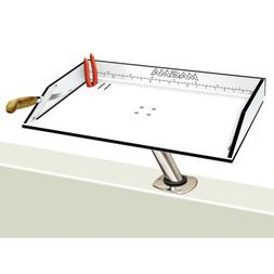 Magma Black and White Bait/Filet Mate Table with LeveLock Al