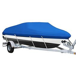 Blue Heavy Duty 210D Waterproof Trailerable Boat Cover Fit 1