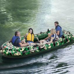 Camouflage 3/4-Person 8/10FT Inflatable Dinghy Boat Fishing