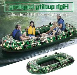 Camouflage 4 Person 8FT Inflatable Boat Fishing Rafting Wate