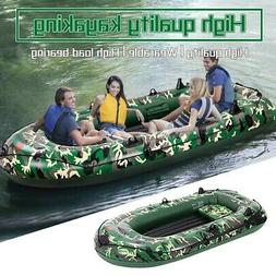 Camouflage 4-Person 10FT Inflatable Dinghy Boat Fishing Raft
