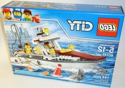 LEGO City 60147 Fishing Boat - New Factory Sealed SHARK!