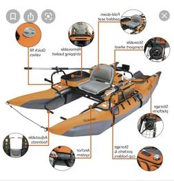 Colorado XT Inflatable Pontoon Boat + Transport Wheel & Moto