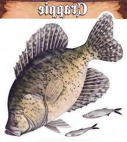 "Crappie Mega Size Decal 13"" Boats Trucks Fishing Fish 8"" x 1"