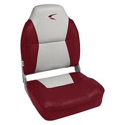 Wise Premium Deluxe Hi - back Fishing Chair, GREY/RED