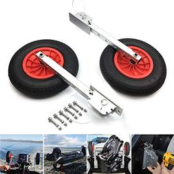 SEAMAX Deluxe 4 by 4 Boat Launching Wheels System for Zodiac
