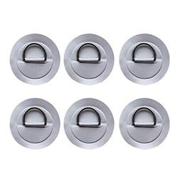 Sala-Fnt - Durable 6 Pieces Stainless Steel D Ring Pad/Patch