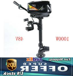 Electric Outboard Motor Inflatable Fishing Boat Engine 48V J