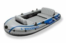 Intex Excursion 4 Inflatable Rafting Fishing 4 Person Boat S