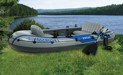 Excursion 4 Inflatable Rafting Fishing 4-Person Boat Set W/