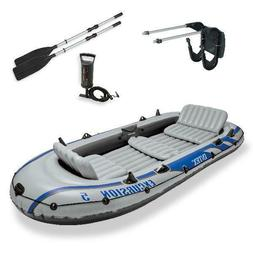 Intex Excursion 5 Inflatable Rafting and Fishing Boat with O