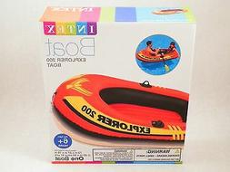 INTEX Explorer 200 Inflatable Pool Lake Boat Water Raft 2 Pe